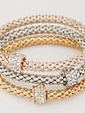 Pentru femei Brățări cu Talismane Design Basic stil minimalist La modă European Multistratificat Ștras Diamante Artificiale AliajCircle