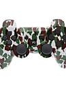 Brown et vert camouflage Bluetooth Dual-Shock V4.0 manette sans fil pour PS3
