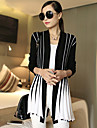 Femei Casual/Business/Plus Size Pijamale Manșon Lung Cardigan Bumbac/Tricotaje Mediu