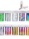 10 Autocollant d'art de clou Autocollants 3D pour ongles Feuille de bandes de dénudage Abstrait Maquillage cosmétique Nail Art Design