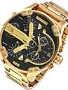 Bărbați Ceas Militar Ceas Elegant Ceas La Modă Ceas de Mână Calendar Zone Duale de Timp Punk Quartz Aliaj Bandă Charm Cool Casual Luxos