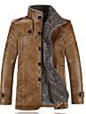 Bărbați Jachetă Casul/Zilnic / Plus Size Simplu(ă),Mată Manșon LungNegru / Maro Altele