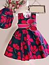 Fata lui Roșu Floral Bumbac Vară / Primăvară Roșu