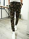 Bărbați Drept Zvelt Simplu Talie Medie Pantaloni Chinos Pantaloni camuflaj