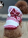 Pisici Câine Haine Hanorace cu Glugă Îmbrăcăminte Câini Keep Warm Modă Fulg zăpadă Maro Rosu Albastru