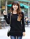 Skymoto®Women's Round Collar Loose Long Sleeve Thick Knitwear Pullover Sweater