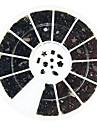 600pcs mixs art strass ongles noir 11 de style décorations