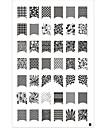 42 Stamp Art Stamping Nail Modèle Modèle Plaque image