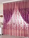 En panel Fönster Behandling Rustik Vardagsrum Polyester Material Skira Gardiner Shades Hem-dekoration For Fönster