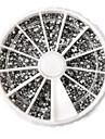 3600st Silver Akryl Rhinestones nagel konst Dekorationer (2mm)