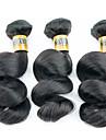 Tissages de cheveux humains Cheveux Péruviens Ondulation Lâche 3 Pièces tissages de cheveux