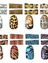 10st leopard stil nagel konst klistermärken m serien n0.75-88 (diverse mönster)