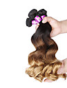 A Ombre Cheveux Malaisiens Ondulation Lâche 12 mois 4 Pièces tissages de cheveux
