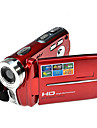 hd 720p rich® 5mp zoom 16x caméra vidéo numérique caméscope dv rouge