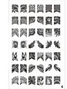 42 motif plaque nail art estampage timbre image modèle