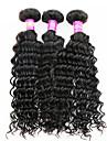 Tissages de cheveux humains Cheveux Péruviens Ondulation profonde 3 Pièces tissages de cheveux