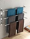 finition polie porte-serviettes 23,6 pouces trois barres porte-serviettes en acier inoxydable 304 weiyuwuxian®