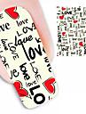 1st kärlek konstruktionsvattenstämpel nagel konst klistermärken ble1887