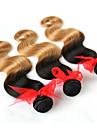 Ondulation naturelle Tissages de cheveux humains Cheveux Brésiliens 100+/-5 14 - 28 Extensions de cheveux humains