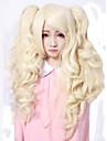 Perruques de lolita Doux Princesse Moyen Bouclé Doré Perruque Lolita  55 CM Perruques de Cosplay Couleur Pleine Perruque Pour Femme