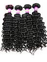 Human Hår vävar Malaysiskt hår Stora vågor 4 delar hår väver