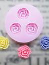 DIY tre hål Flower silikonform Fondant Formar Sugar Craft Verktyg Harts blommor Mould formar för kakor