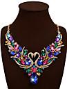 Pentru femei Coliere Coliere cu Pieptar Animal Shape Lebădă Piatră Preţioasă Ștras AliajBohemia Stil Bijuterii Statement bijuterii de lux