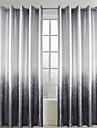 Deux Panneaux Le traitement de fenêtre Rustique Salle de séjour Polyester Matériel Rideaux Tentures Décoration d'intérieur For Fenêtre