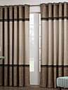 Deux Panneaux Le traitement de fenêtre Néoclassique , Solide Salle de séjour Polyester Matériel Rideaux Tentures Décoration d'intérieur