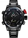 WEIDE Bărbați Ceas Sport Ceas La Modă Ceas de Mână Quartz Quartz Japonez LED Calendar Cronograf Rezistent la Apă Zone Duale de Timp alarmă