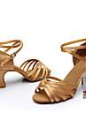 Chaussures de danse(Noir Marron Argent Or Léopard Autre) -Personnalisables-Talon Personnalisé-Satin Similicuir-Latine Salon