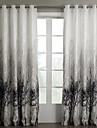 Två paneler Fönster Behandling Rustik Sovrum Polyester Material gardiner draperier Hem-dekoration For Fönster