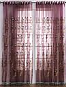 Deux Panneaux Le traitement de fenêtre Néoclassique Chambre à coucher Polyester Matériel Rideaux opaques Décoration d'intérieur For