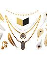 #(1) - Séries bijoux - Doré - Motif - #(23x15) - Tatouages Autocollants Homme/Girl/Adulte/Adolescent