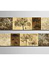 Reproduction transférée sur toile botanique ensemble des 2 1301-0204