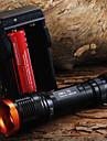 Lampes Torches LED Lampes de poche LED 1800 Lumens 5 Mode Cree XM-L T6 18650 Faisceau AjustableCamping/Randonnée/Spéléologie Usage