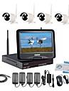 strongshine® camera ip wireless cu 960p / infraroșu / rezistent la apă și NVR cu truse LCD Combo 10.1inch