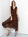 v gât de moda rochii de imprimare ocazională ale femeilor