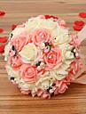 un buchet de 30 trandafiri pe simulare de nunta buchet de mireasa mireasa depozit flori, roz și alb
