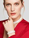 Seturi de bijuterii Coliere Choker Cercei Lănțișor Ștras La modă bijuterii de lux Elegant de Mireasă Multistratificat Ștras Square Shape