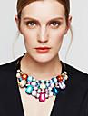 Pentru femei Coliere Coliere cu Pieptar Cristal Bijuterii Ștras Diamante Artificiale 18K de aur Cristal AustriacLa modă European