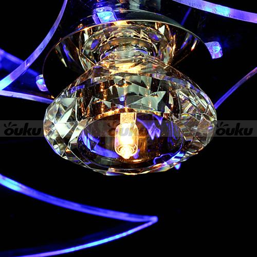 Moderno LED lampadario di cristallo luce di soffitto Luna Stelle Flush Mount ...