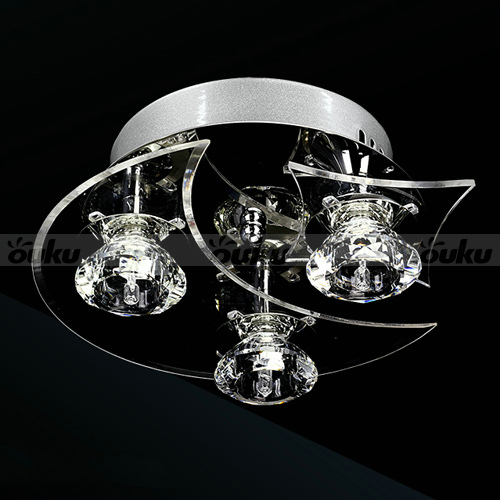 contemporary crystal led moon star shape ceiling light