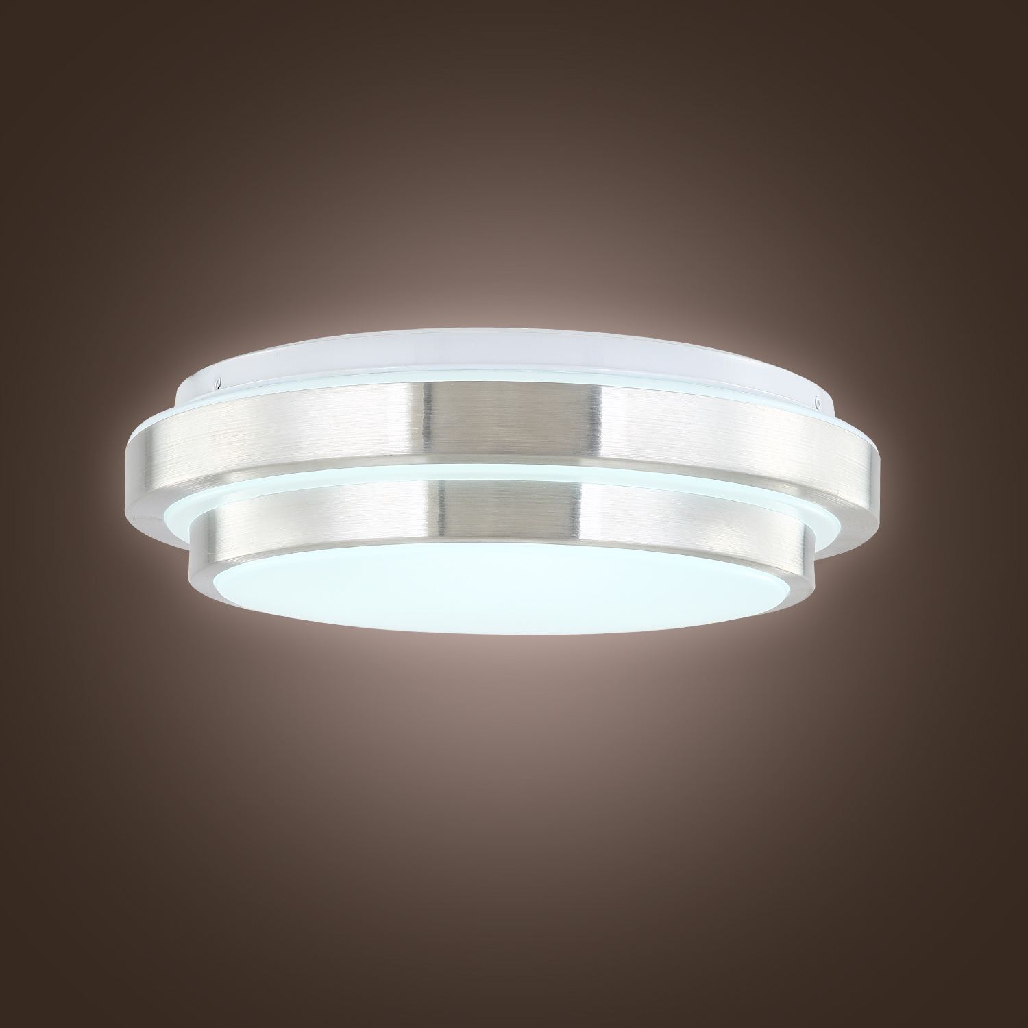 modern led flush mount 15w 1500lm aluminum acrylic ceiling light 11 round ebay. Black Bedroom Furniture Sets. Home Design Ideas