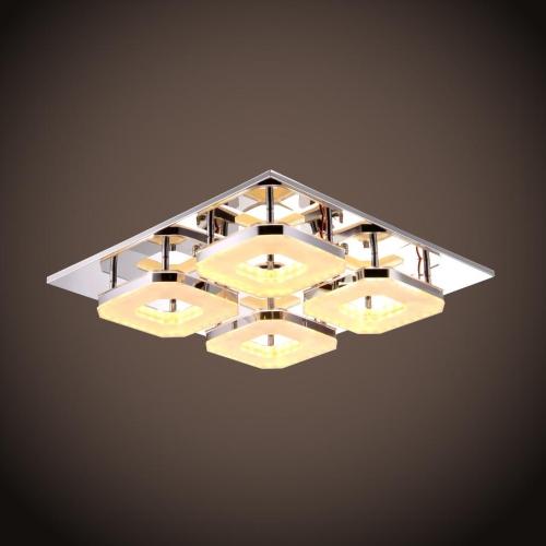 2016 modern acrylic 32w led 4 light ceiling fixture chandelier lamp flush mount ebay. Black Bedroom Furniture Sets. Home Design Ideas