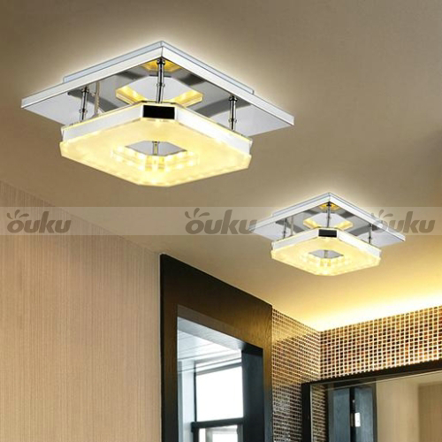 modern 8w led flush mounted ceiling down light wall kitchen bathroom