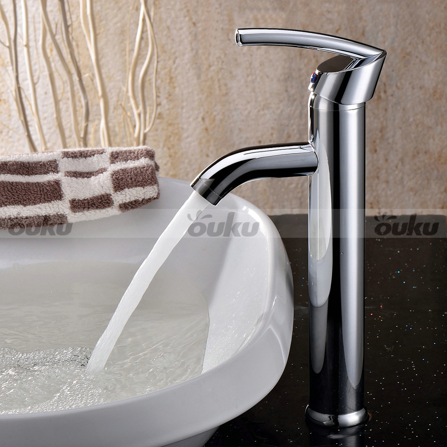 Elegant Bathroom Sinks: Elegant Chrome Brass Bathroom Sink Faucet Countertop