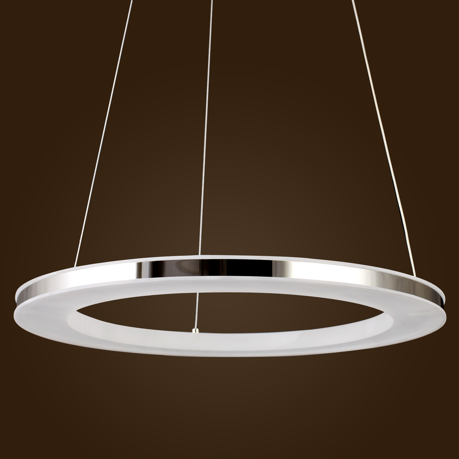 Acrylic led ring chandelier pendant lamp ceiling light lighting fixtures modern ebay - Chandelier ceiling lamp ...