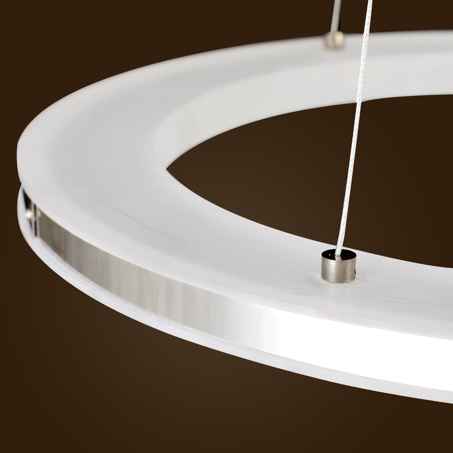 Modern Ring Acrylic Led Diy Ceiling Pendant Lamp Fixture