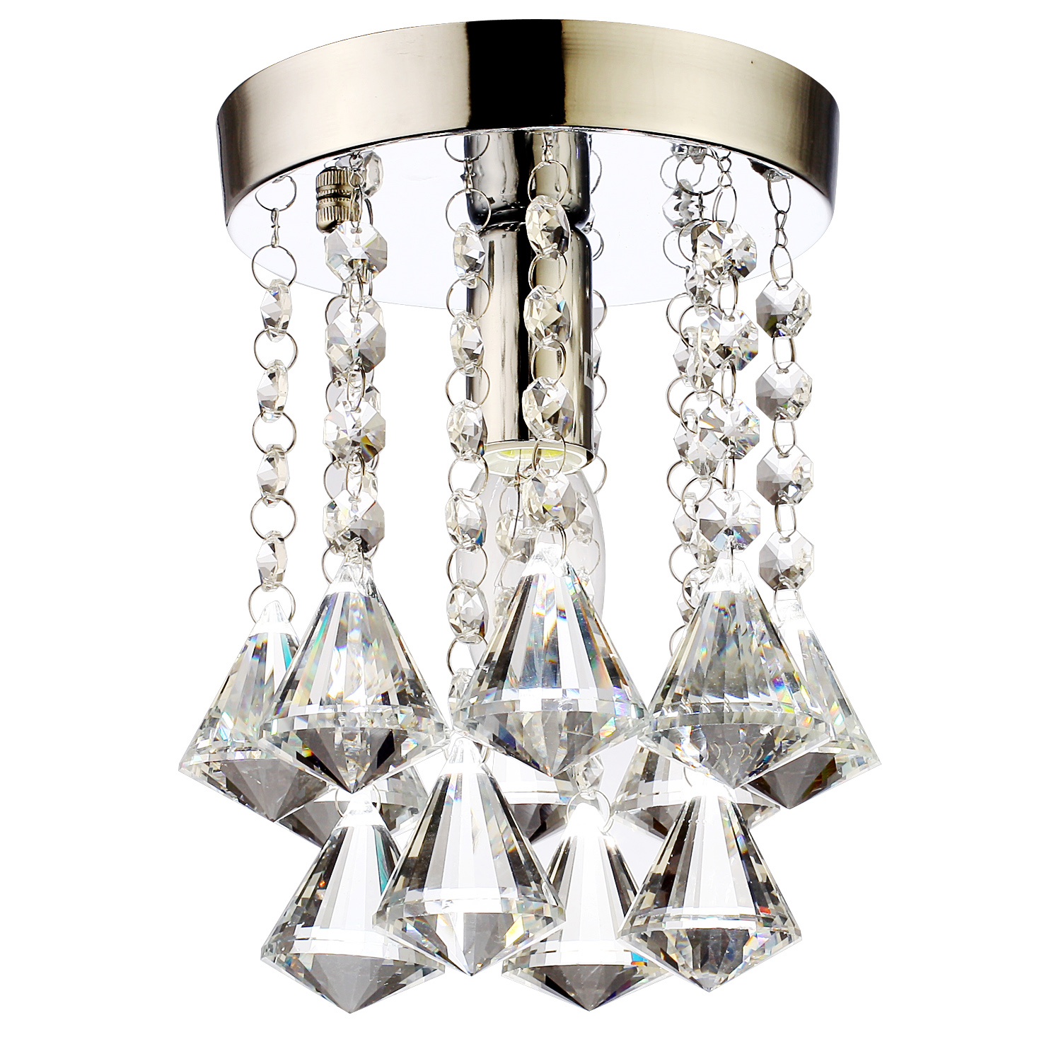 Crystal Modern Pendant Ceiling Light Chandelier Lamp: Mini Crystal Light Chandelier Flush Mount Lamp Ceiling